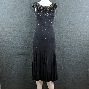 Vintage Jill Richards Rhinestone Midi-Dress